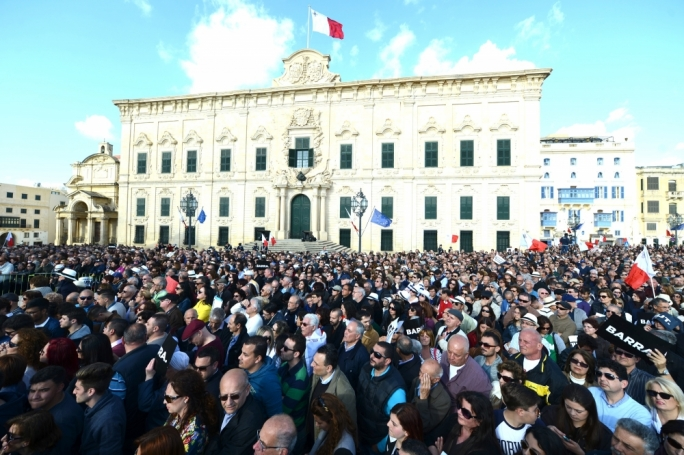 The PN's anti-corruption protest outside Castile