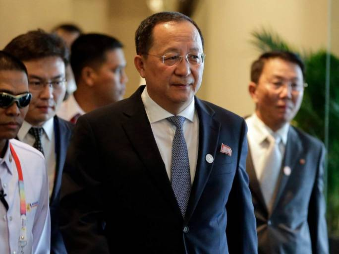 'Regarding which measures to take, I don't really know, since it is what Kim Jong-un does' said North Korea's Foreign Minister, Ri Yong Ho (Photo: the Indian Express)