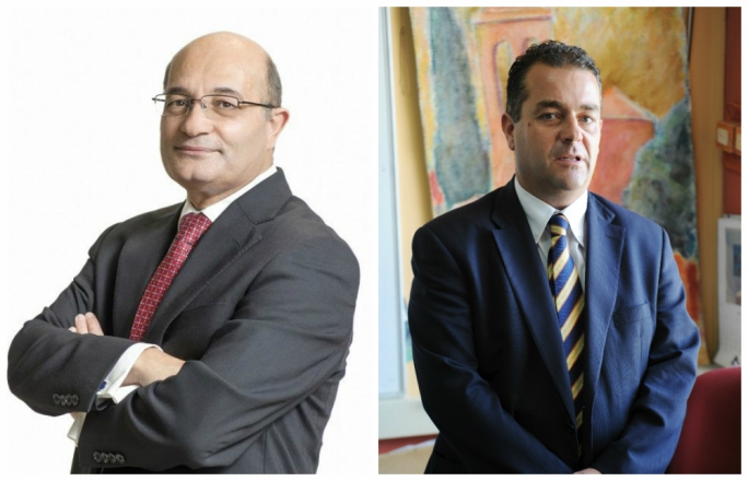 Baltimore Fiduciary was owned by Richard Abdilla Castillo (left) while Fenech Adami (right) resigned as non-executive director in January 2014
