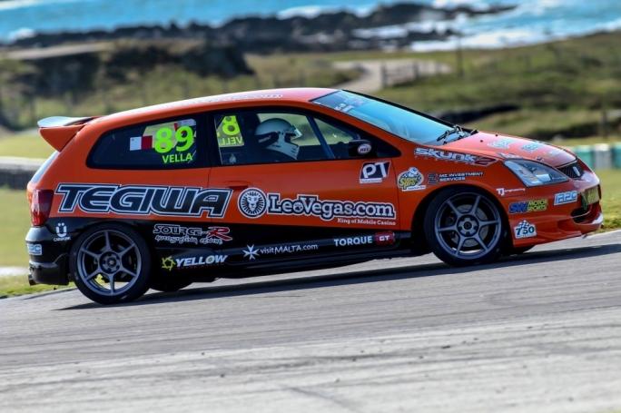 Rodren Vella in his Honda