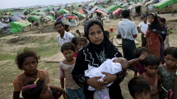 Rohingya refugees inside a camp. They are amongst the most persecuted people in the world