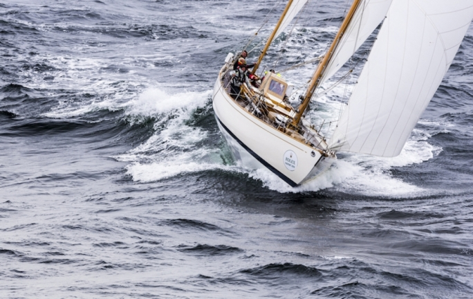 Dorade - designed in 1929 by Olin Stephens, is probably the oldest yacht to compete in the Rolex Middle Sea Race  Photo Credit: Rolex/Kurt Arrigo