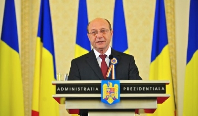 Romanian President Traian Basescu asked the electorate to boycott the referendum