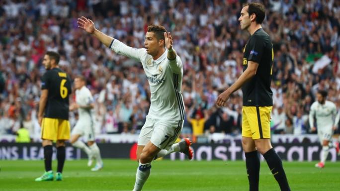 Cristiano Ronaldo celebrating his first goal