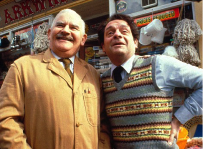 Open All Hours – Ronnie Barker (left) and David Jason