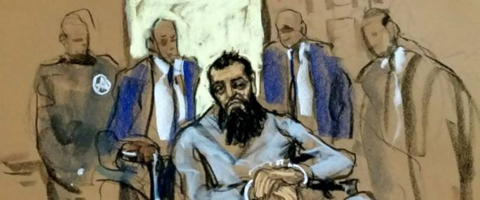Saipov appearing in federal court in a wheelchair (Photo: ABC News)
