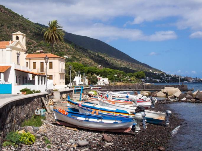 Salina, unlike the rest of the Aeolian Islands north of Sicily, remains largely unspoiled