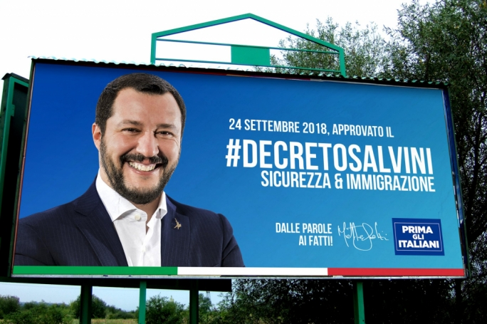 Matteo Salvini is pushing through a tough migrant stand in Italy