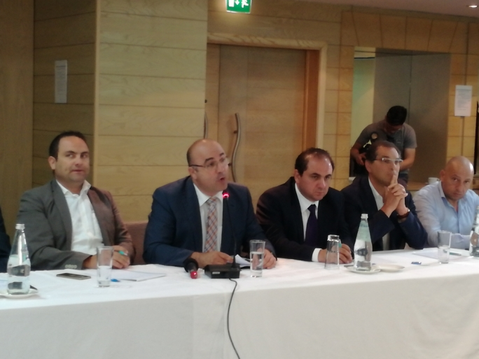 MDA president Sandro Chetcuti (second from left) praised the PN's call to abolish inheritance tax