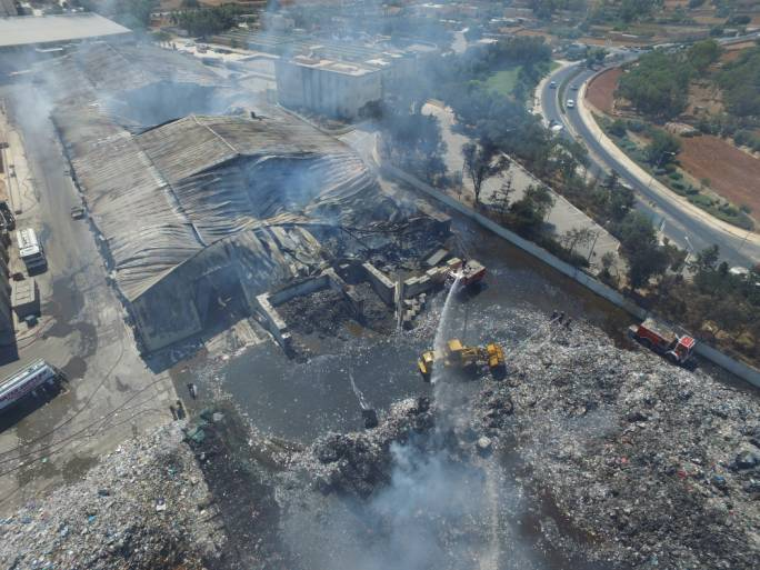 Recycled waste is still processed at Ghallis