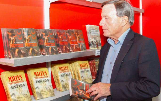Alfred Sant with his award winning Western collection