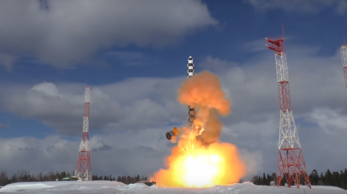 Test launch of the Sarmat ICBM