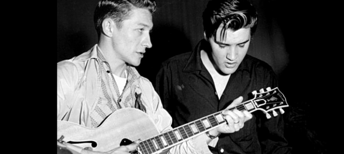 Moore with Elvis