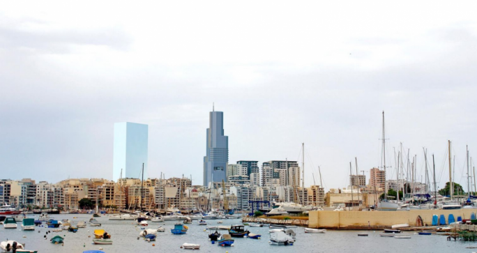 If approved the two Sliema towers will be higher than any other building in Malta, surpassing by far the Portomaso tower, which is 23 floors