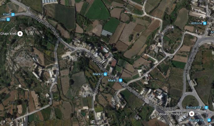 Aerial view of Triq Ghajn Qajjet