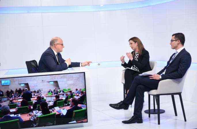 Paula Mifsud Bonnici and Silvio Schembri with host Saviour Balzan