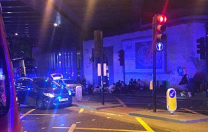 Van 'rams into pedestrians' on London Bridge