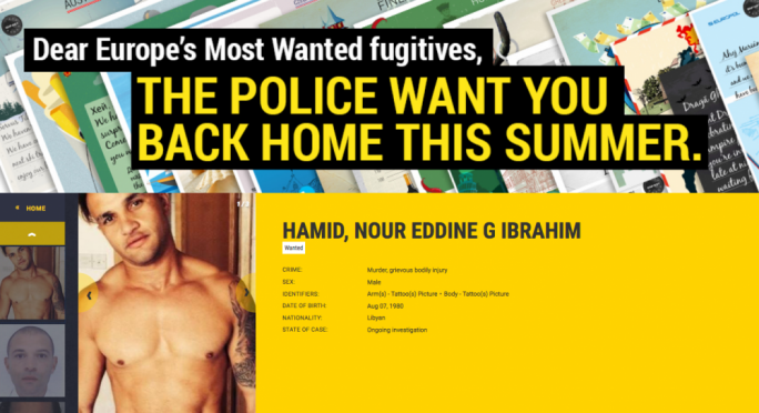 Europol send 'Wish you were here' cards to Most Wanted criminals
