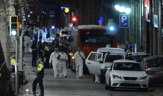 The scene of the attack in Cambrils
