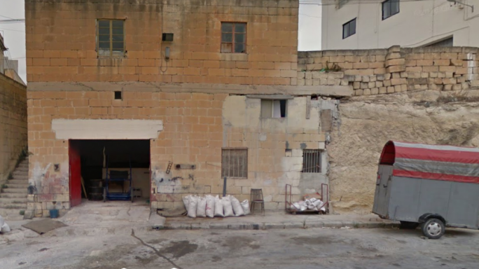 The hold-up took place in Triq Belt il-Hazna as the man was feeding a horse (Image: Google Street View)