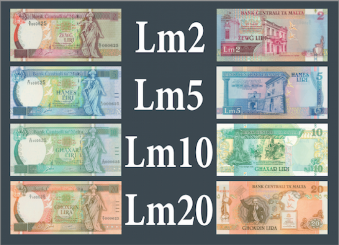 Maltese Lira notes that can be exchanged by 31 January 2008