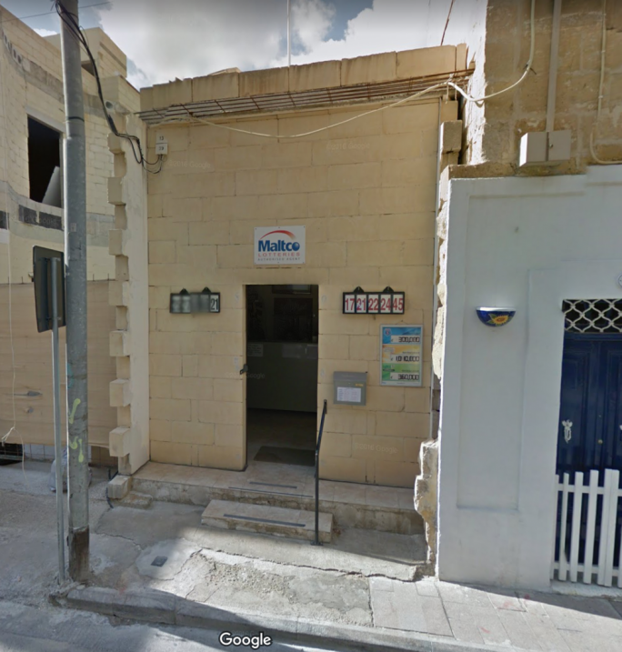 Two men robbed the lotto booth in Paola Road, Tarxien