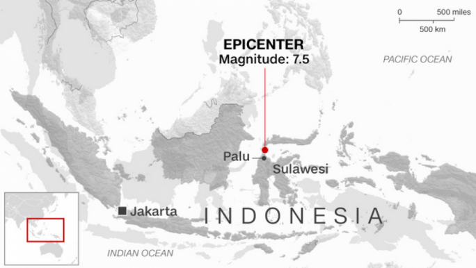 Indonesia earthquake: Hundreds dead in Palu quake and tsunami