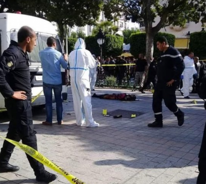 9 injured when woman blows herself up in Tunisia's capital