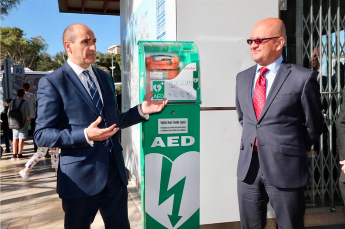 Automated external defibrillators installed in Valletta