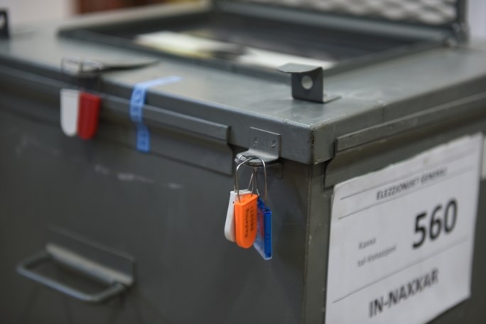Ballot boxes were sealed early this morning before polling stations open at 7am