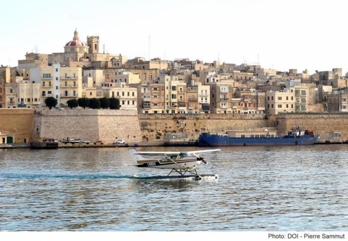 Seaplane traffic in Malta is