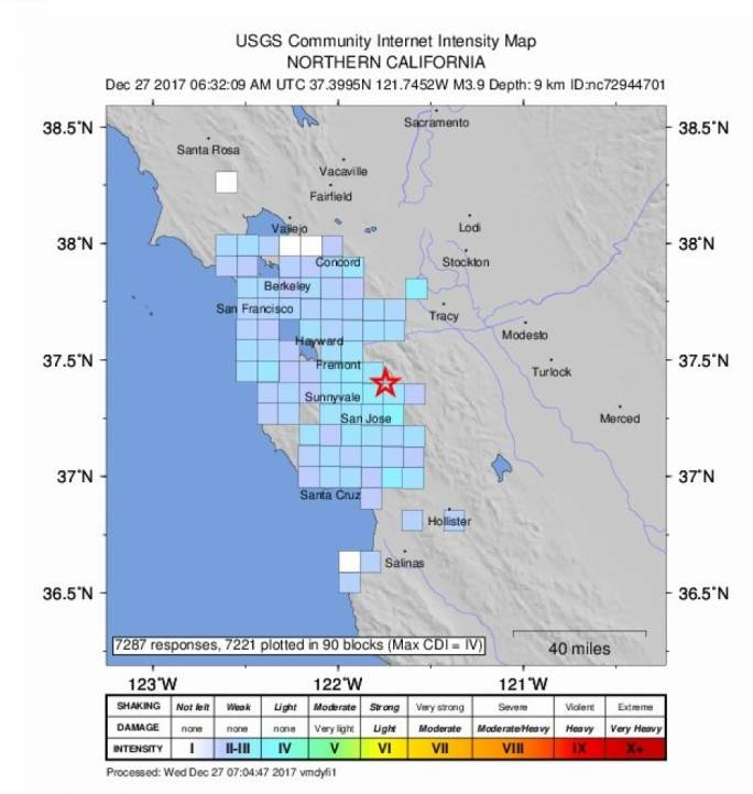 Earthquake Strike In East San Jose