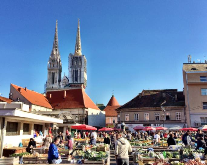The Dolac, described as the 'Belly of Zagreb' offers a taste of life in the Croatian capital