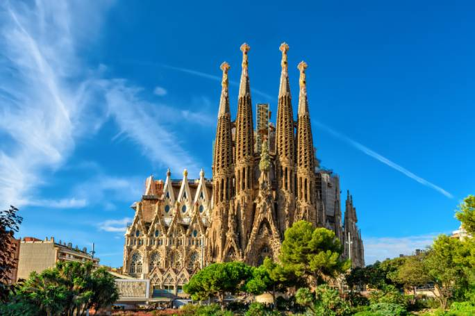 La Sagrada Familia is perhaps Guadi's best known work. He dedicated over 40 years of his life to the construction of this cathedral that is still not quite finished