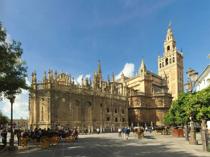 The Seville Cathedral was the world's largest cathedral for over 1,000 years