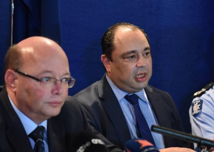 Deputy police commissioner Silvio Valletta (right) with Police Commissioner Lawrence Cutajar