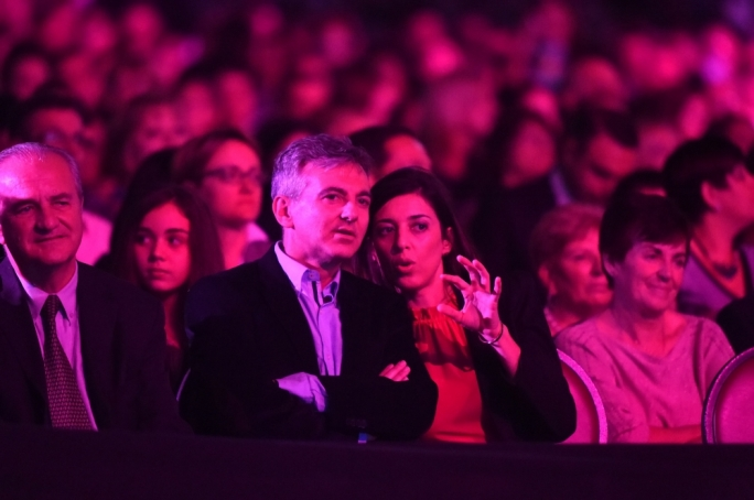Opposition leader Simon Busuttil with partner Kristina Chetcuti at the Junior Eurosong (Photo: Ray Attard)