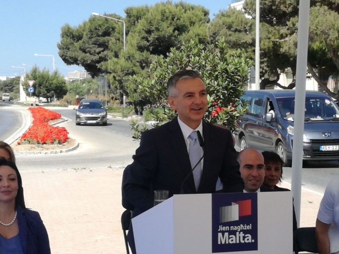 PN leader Simon Busuttil addresses a press conference in Attard