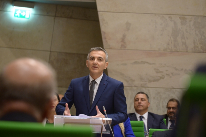 Opposition leader Simon Busuttil delivering his reply to Budget 2017 (Photo: Chris Mangion/MediaToday)