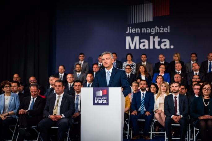 PN leader Simon Busuttil presents the candidates