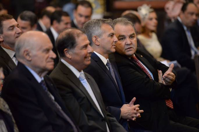 Outgoing PN leader Simon Busuttil (third from left) remains the officially-recognised leader of the opposition