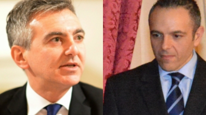 Simon Busuttil (left) and Keith Schembri