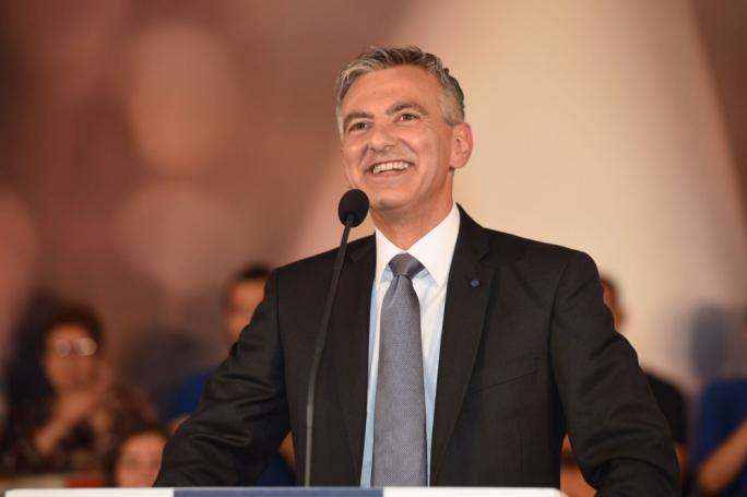 Simon Busuttil addressing supporters in Lija