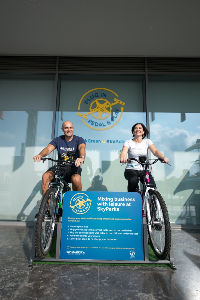 MIA chief executive officer Alan Borg and FMS chief executive Carmen Ciantar get serious about pedalling...