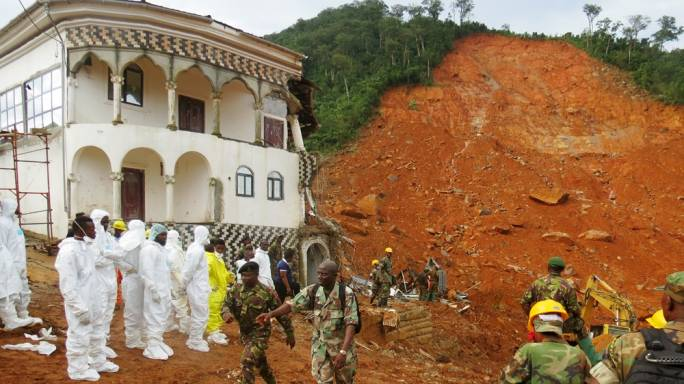 Emotional Sierra Leone president appeals for urgent support for flood victims