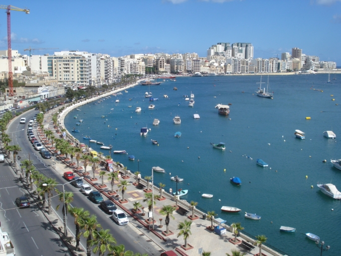 The Sliema Strand has become a cowboy's paradise