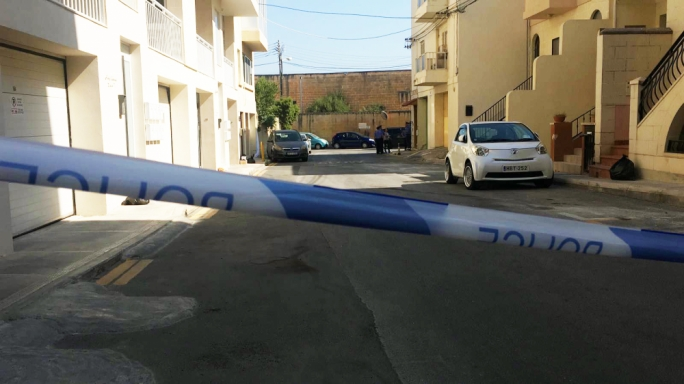 The woman was found between two cars in St. Venera