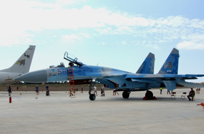 SU-27 Flanker of the Ukraine Air Force