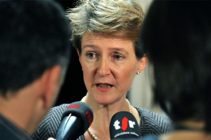 Switzerland's federal justice minister Simonetta Sommaruga