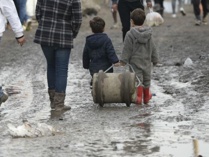 Syrian children at Calais
